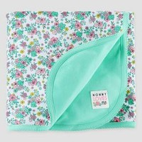 Baby Girls' Elephant Interlock Blanket Cool Mint OSZ - Just One You™ Made by Carter's®