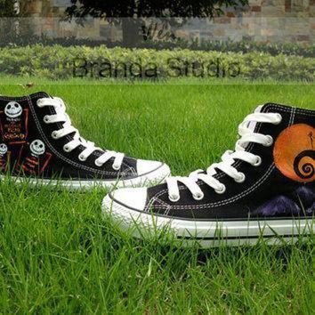 DCCK1IN nightmare christmas shoes studio hand painted shoes 49 99usd paint on custom converse
