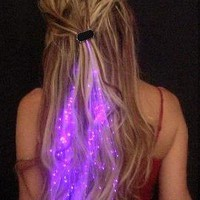 Starlight Strands Illuminating Hair Extensions (Set of 6 Hair Strands) (MultiColor)