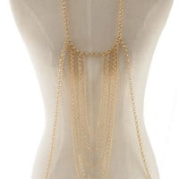 Enchanting Linked Gold Body Chain