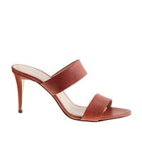 J.Crew Womens Lena Leather Heeled Slides