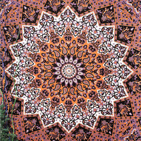 Indian Mandala Star tapestry,Hippie Hippy Wall Hanging Wall Decor Bed Spread Wall art Beach Coverlet Throw Curtain