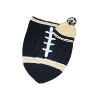 New Orleans Saints Baby Football Cocoon & Hat (Newborn to 3 months)