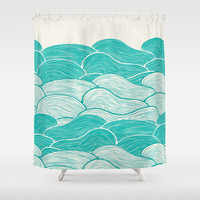 The Calm & Stormy Seas Nautical Shower Curtain for your home decor