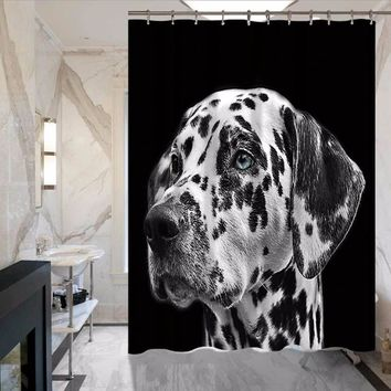 Animal Series Cat And Dog Ladybug Bathroom Hotel Shower Curtain Does Not Fade Polyester Waterproof Mattress Curtains MYSC108