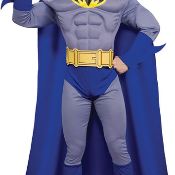 men's costume: batman brave deluxe/muscle