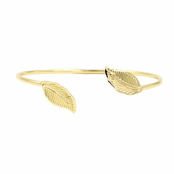 New Arrival Gold Leaf bracelet femme Cuff Bracelets & Bagnles For Women pulseiras pulseras mujer bracciali Simple Jewlery