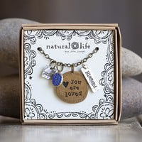 Loved  Junk  Market  Token  Necklace  From  Natural  Life