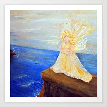 Invite your Angel | Angels are here Art Print by Azima