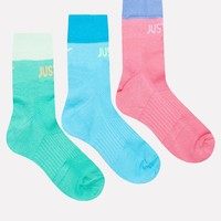 Nike 3 Pack Socks in Multi Colour