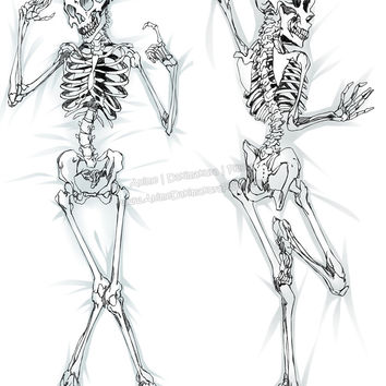 New Skeleton Anime Dakimakura Japanese Hugging Body Pillow Cover ADP-511106