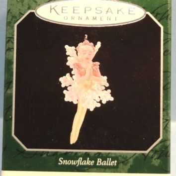 1998 Snowflake Ballet Hallmark Retired Miniature Series Ornament