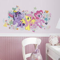 Room Mates 6 Piece Popular Characters My Little Pony Wall Graphix Peel and Stick Giant Wall Decal Set