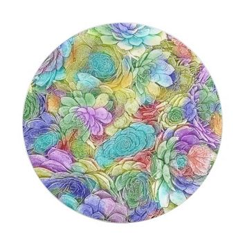 Colorful Nature Succulent Plants Paper Plate