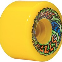Santa Cruz SlimeBall 66s Re-Issue Skateboard Wheels - neon yellow (78a) - Free Shipping