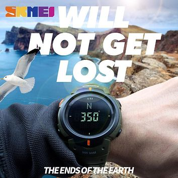 Men Compass Sports Watches Hiking LED Electronic Digital Watch Man Chronograph Wristwatches