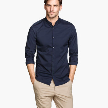 H&M Collarless Shirt $24.95