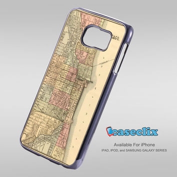 Vintage Chicago Map For Smartphone Case