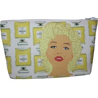 Marilyn Monroe Pop Zipper Pouch and Makeup Bag – Illustrated and Handmade in the USA
