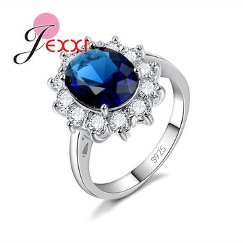 PATICO 3Colors Charm Wedding Rings Jewelry Stamped 925 Silver Cubic Zirconia Engagement Anniversary Promise Finger Ring
