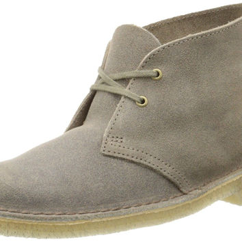 Clarks Women's Desert Boot Lace-Up Boot Taupe Distressed 7 B(M) US