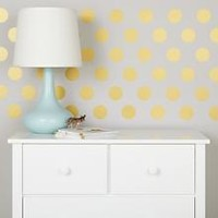 Kids Decals: Silver Gold White Dot Wall Decals in Wall Decals | The Land of Nod