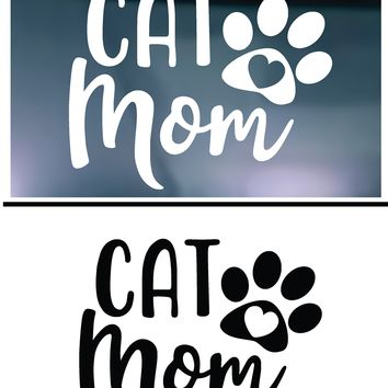 Cat Mom Vinyl Graphic Decal