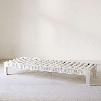 Amira Carved Wood Daybed | Urban Outfitters