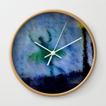 Night Moves Wall Clock by Jessica Ivy