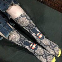 GUCCI Golden thread graffiti socks