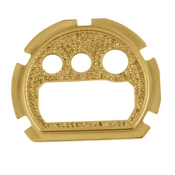 14K Gold Finish Canary Lab Diamond G-Shock DW6900 Watch Face Plate