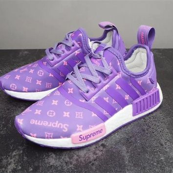 adidas NMD x SUP Supreme x LV Louis Vuitton Fashion Trending Leisure Running Sports Shoes