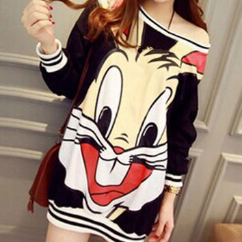 Bugs Bunny Face Sweater Dress