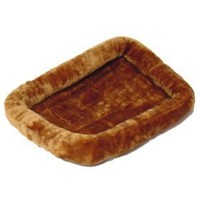 Midwest Quiet Time Pet Bed, Cinnamon, 22` x 13` $14.99