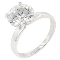 Timeless Solitaire Engagement Ring, size : 06