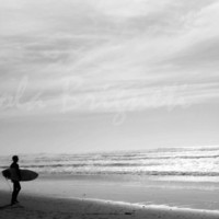 Black and White Surfer Photography - Ocean Beach - Beach Photography