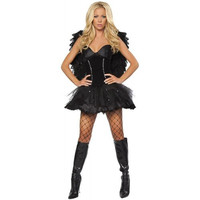 Roma Costume Womens Dark Angel Halloween Party Dress Costume