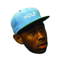 "WOLF HEAD STICKER 12"" – Odd Future"