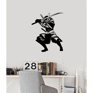 Vinyl Wall Decal Samurai Japanese Warrior Asian Art Teen Room Decorating Stickers Mural (ig6034)