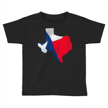 Eroded Texas Map With Flag Toddler T-shirt