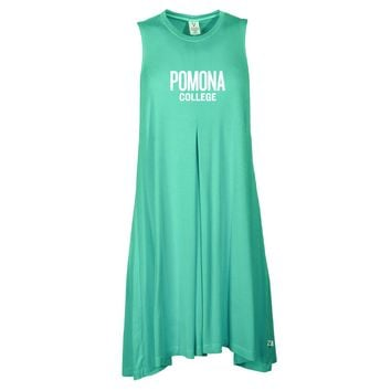Official NCAA Pomona College - C25RR02 Women's Sleeveless Spandex Pleat Dress