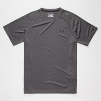 Under Armour Mens Tech Tee Charcoal  In Sizes