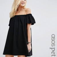 ASOS PETITE Off Shoulder Mini Dress