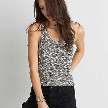 AEO Feather Light Racerback Tank , Black