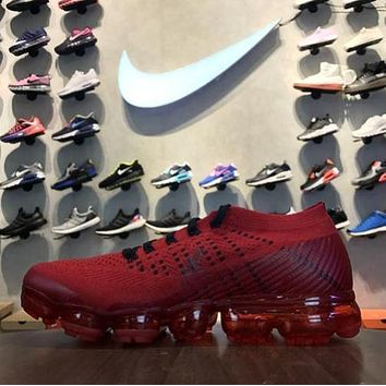 Nike Air VaporMax 2018 Flyknit Red 849558-009 Sport Running Shoes