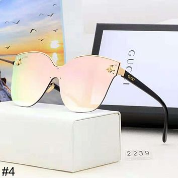 GUCCI 2018 new big frame metal bee trend female models polarized sunglasses #4