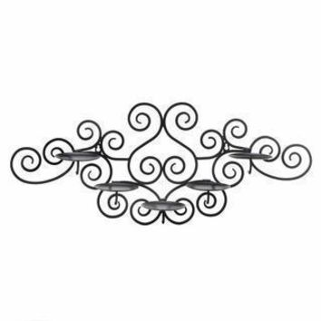 Scrollwork Wall Mounted Candle Holder - Health & Beauty
