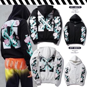 OFF WHITE Hoodies Winter Hats Pullover Jacket [11501028556]