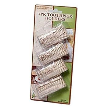 Dd Toothpick Holders With 90 Toothpicks - 4 Pack(Pack Of 72)