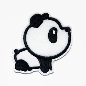 Cute Patches - Panda Patch - Kawaii Patches - Cute Animal Patches - Iron On Patches Animal - Chinese Applique - Embroidered Panda Patches